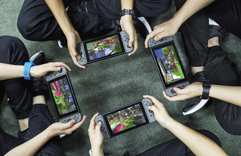 Nintendo Switch Players Playing Splatoon 2