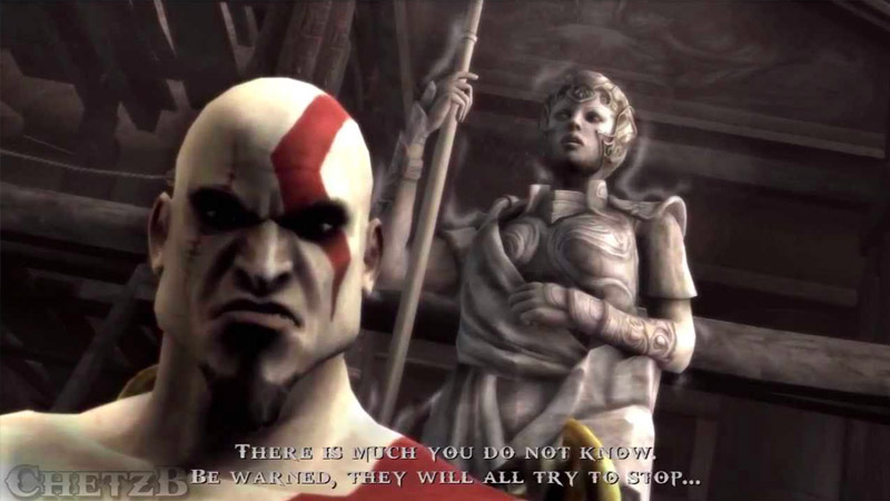 God of War and Athena on the PlayStation