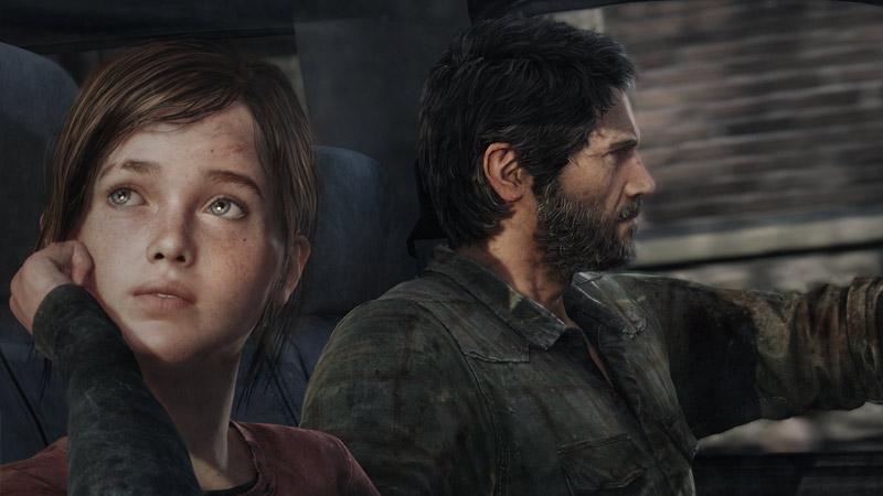 Joel and Ellie in The Last of Us by Naughty Dog