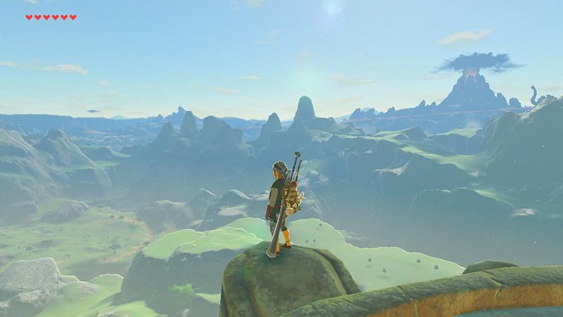 Link Overlooking Hyrule in Breath of the Wild