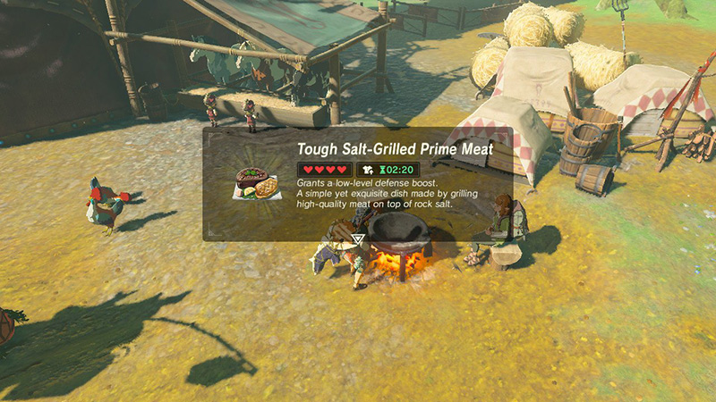 Tough Salt-Grilled Prime Meat in The Legend of Zelda: Breath of the Wild