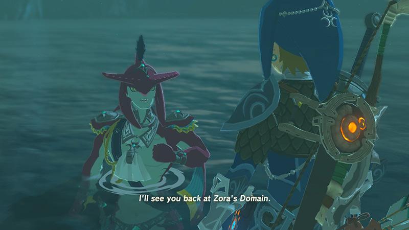 Cutscene in The Legend of Zelda Breath of the Wild on Nintendo Switch