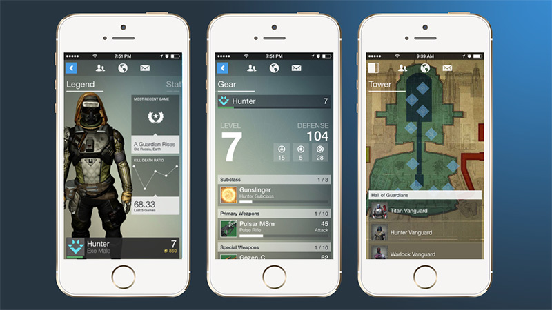 The Destiny Companion App by Bungie