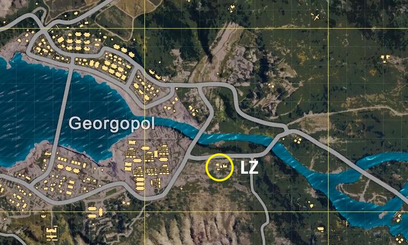 Georgopol Landing Zone in PlayerUnknown's Battlegrounds