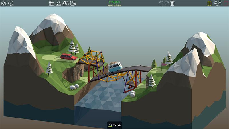 Poly Bridge Indie Game by Dry Cactus