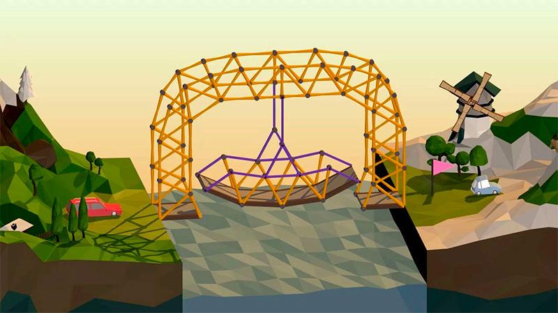 Building a Bridge in Poly Bridge
