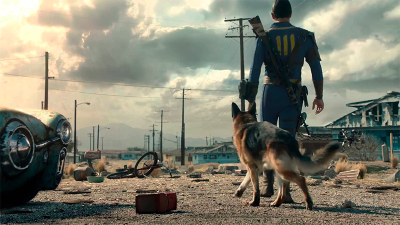 The Dog in Fallout 4 by Bethesda