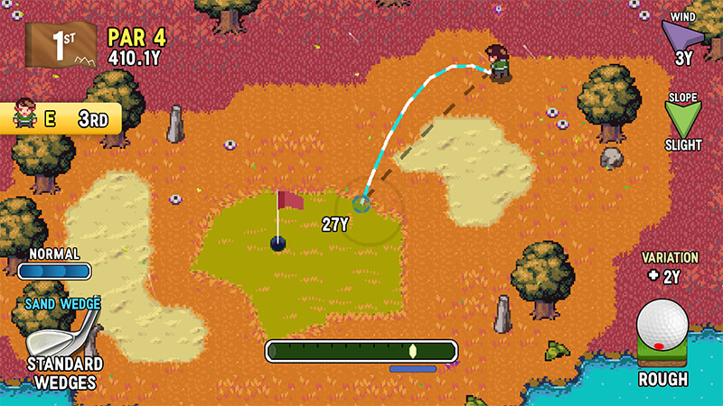 Golfing in Golf Story at Lurker Valley
