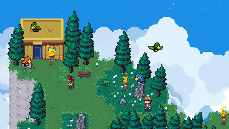 Mountains in the Golf Story