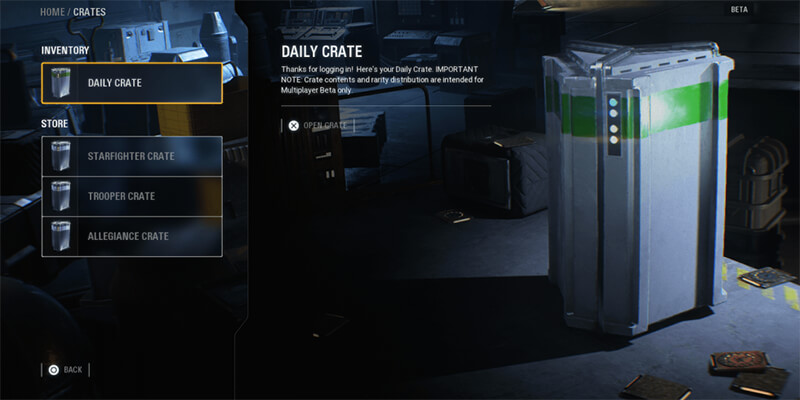 Star Wars Battlefront 2 Loot Creates