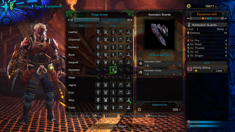Armor Sets in Monster Hunter World