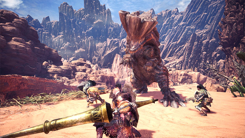 Barroth Monster Fight with a Squad in Monster Hunter World