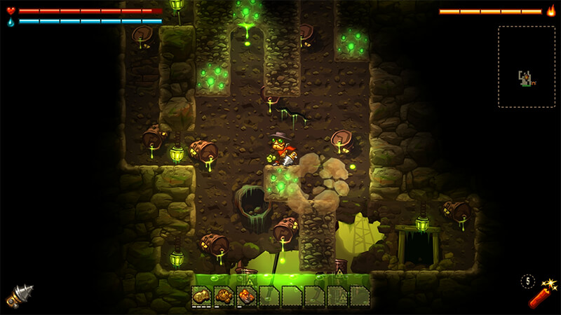 Steamworld Dig Gameplay from Image and Form Games
